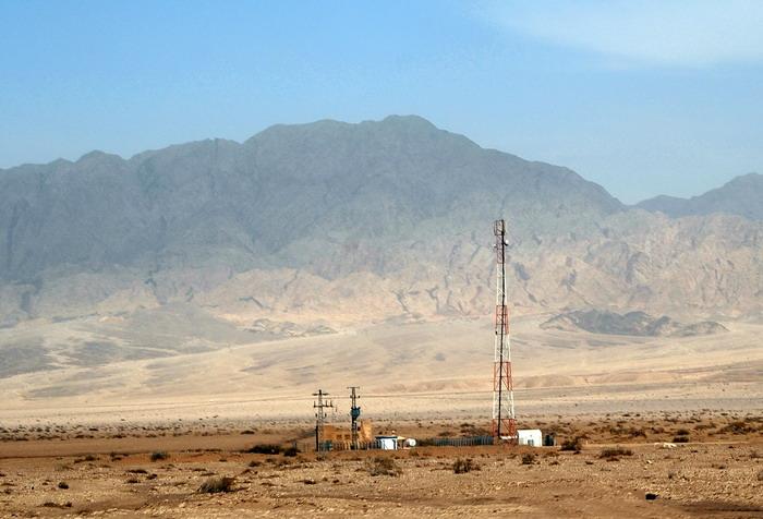 Пустыня Арава с видом на горы Аммона