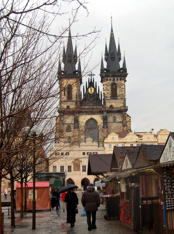 Прага. Староместская площадь - пасмурно. Prague. Praha.