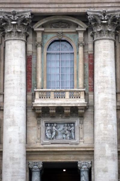 Балкон, на котором папа выступает