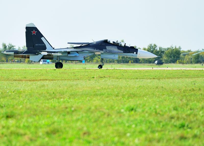 Су-30СМ. Посадка. Авиашоу 62.