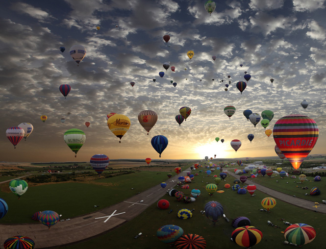 The largest hot-air balloon gathering in the world, Chambley, France