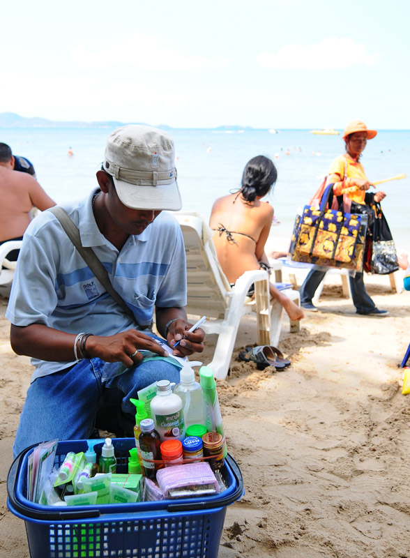 Паттайя. Кози Бич. Продавцы на пляже. Pattaya. 38.