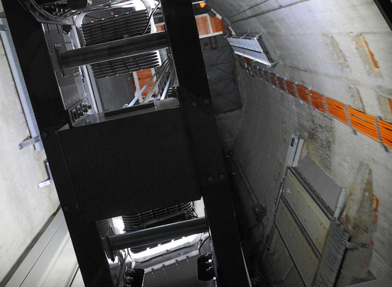 Донау Турм. Лифт.