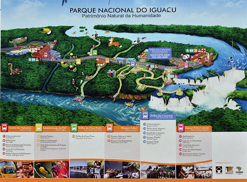 Водопады Игуасу. Карта. Iguacu Falls. Map. 9