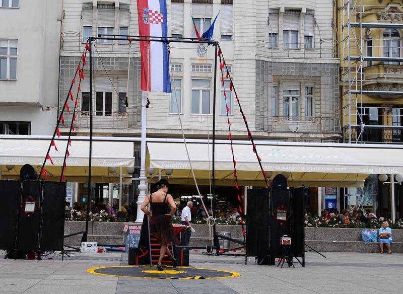 Хорватия. Загреб. Площадь Бана Елачича. Zagreb. 13.