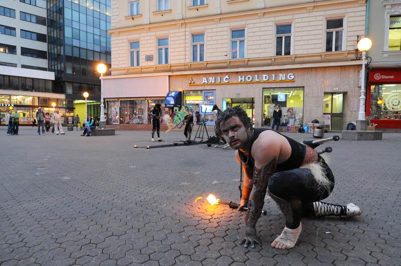 Загреб. Площадь Бана Елачича. Zagreb. 83