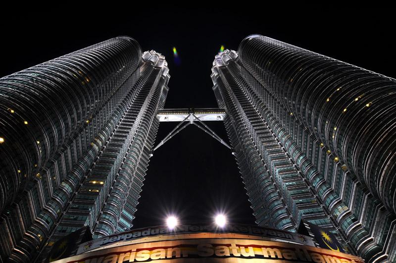 Петронасы ночью. Night Petronas. 4