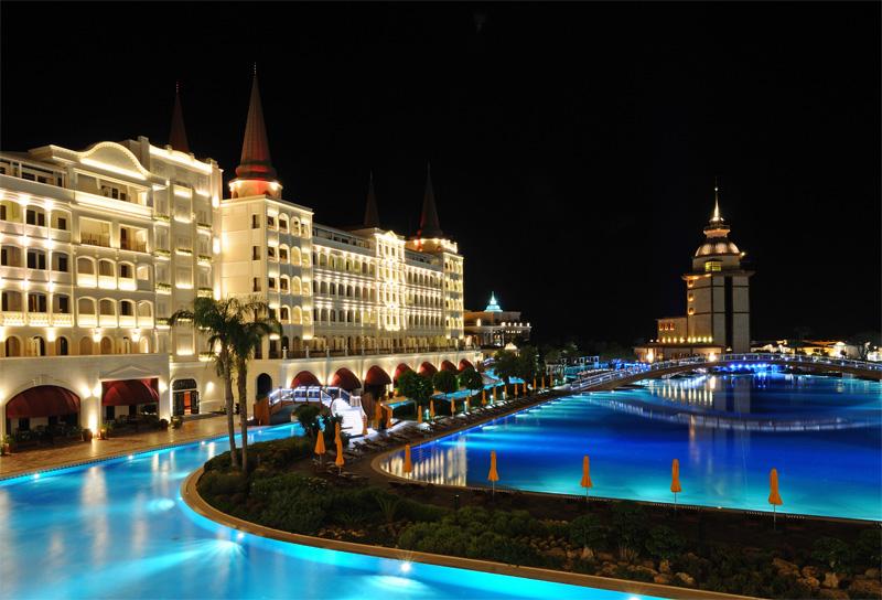 Мардан Палас ночью. Mardan Palace. 3