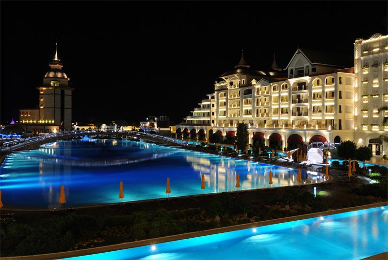 Мардан Палас ночью. Mardan Palace. 4