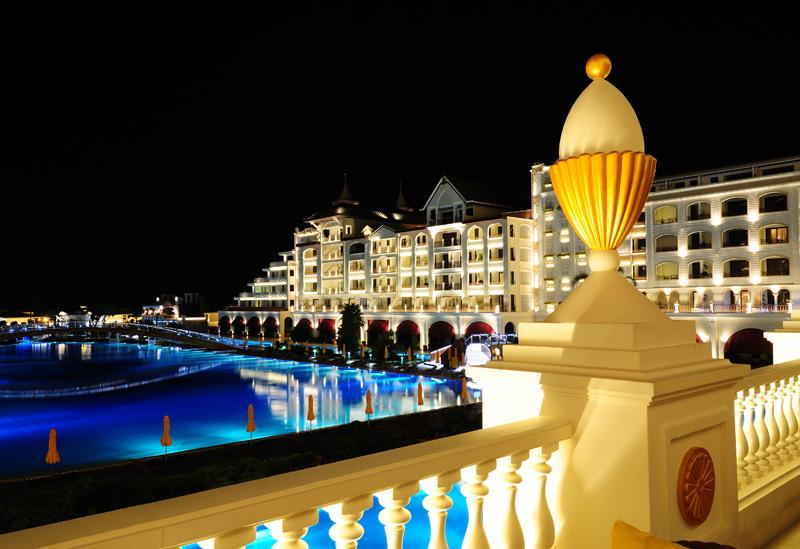 Мардан Палас ночью. Mardan Palace. 5