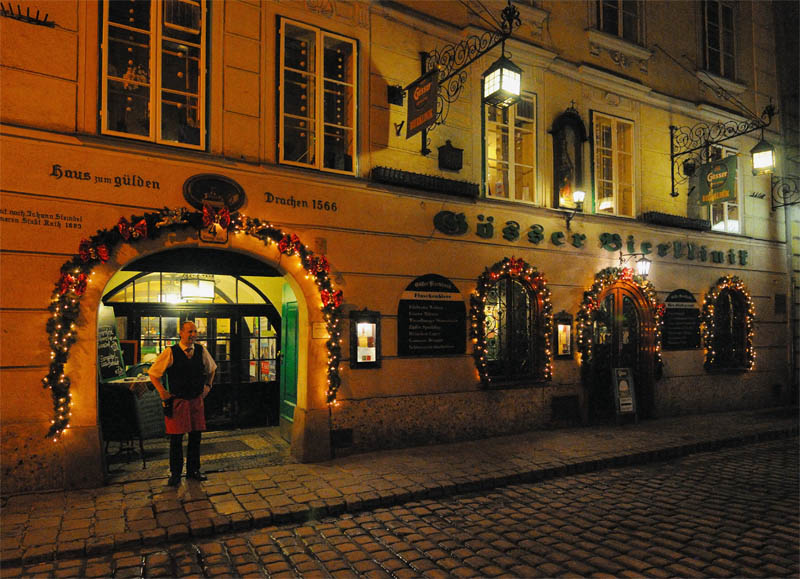 Вена. Пивной ресторан Бирклиник. Gosser Bierklinik. 3