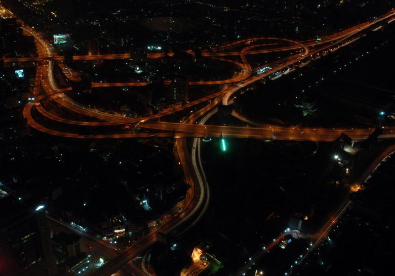 Ночной Бангкок с 300 метров. Night Bangkok.