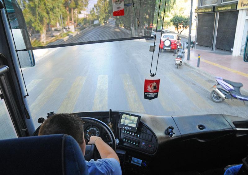 Поездка на Санторини. Автобус. 6
