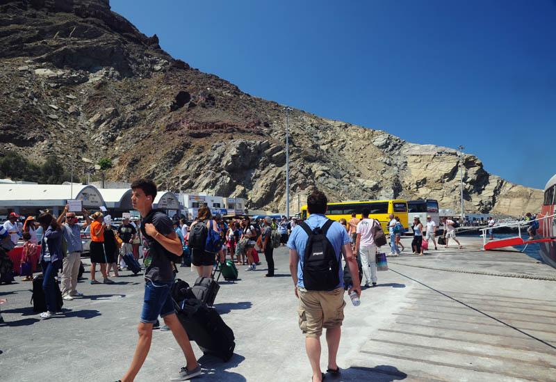 Санторини. Порт. Santorini. Athinios. 27