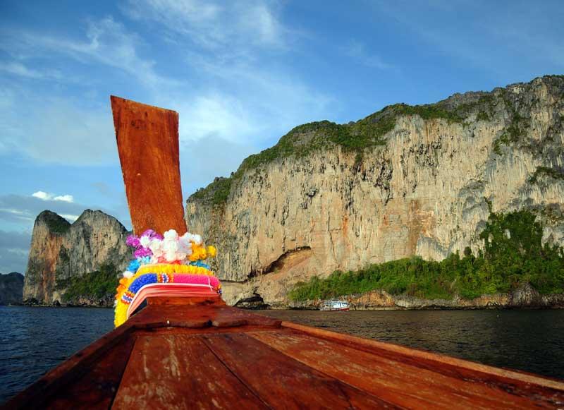 Пи-Пи Ле. Идём на лодке с острова Пи-Пи Дон. 164