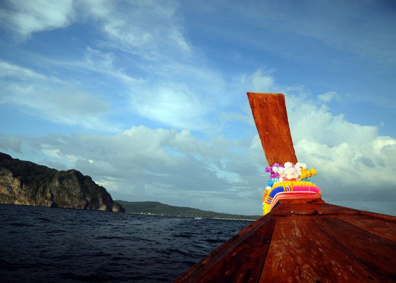 Пи-Пи Ле. Идём на лодке с острова Пи-Пи Дон. 170