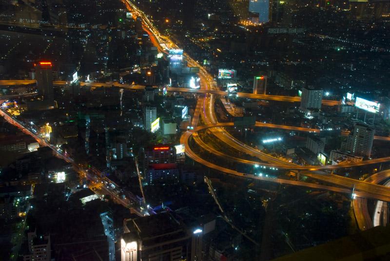 Бангкок с высоты 300м ночью. Bangkok.