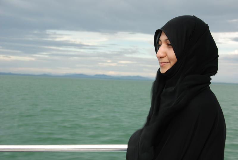 Счастливая Zahraa... Исходный кадр.