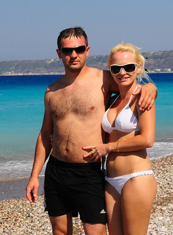 Наши люди на пляже в Родосе