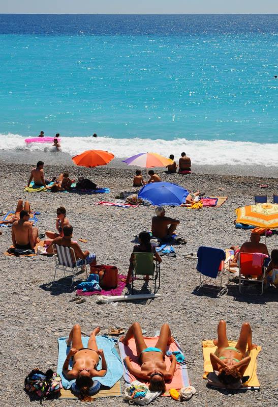 Ницца. Променад Англичан. Пляж.