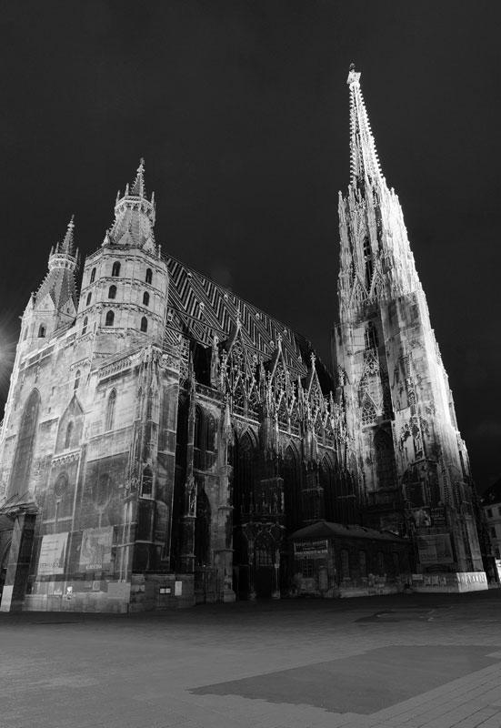 Вена. Собор Св. Стефана ночью. Vienna. Night Stefansdom. 23