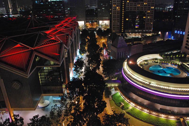 Ночной Сингапур. Night Singapore.
