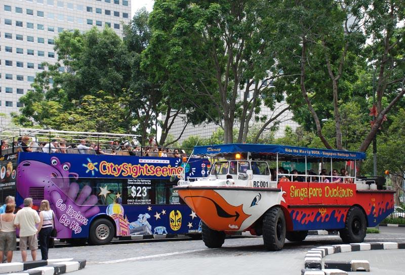 Фото Сингапур. Duck Tours. Экскурсии.