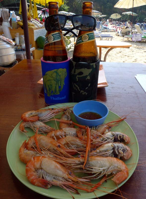 Паттайя. Кози Бич. Еда на пляже. Pattaya. 67