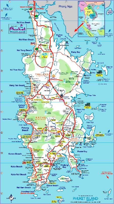Остров Пхукет. Карта 1.