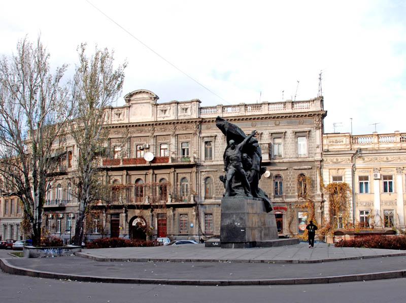 Одесса. Памятник потемкинскому восстанию. Odessa.
