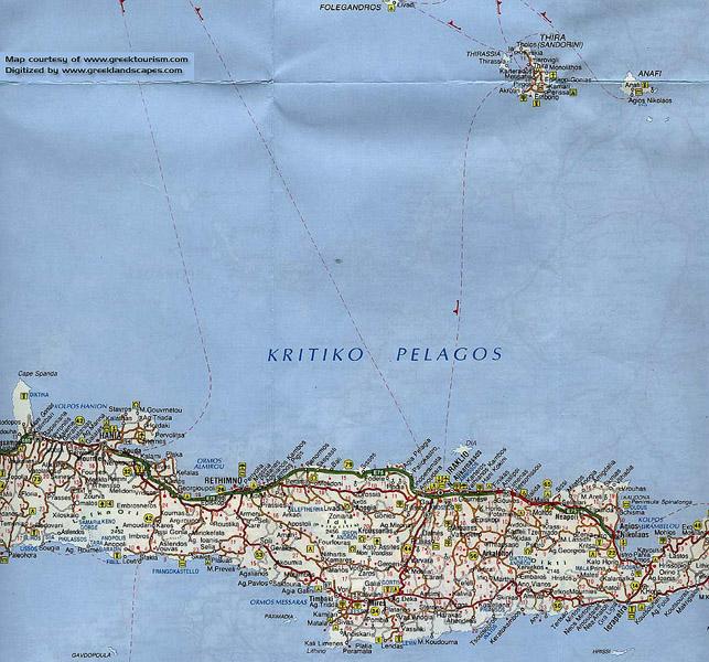 Греция. Санторини. Карта. 3
